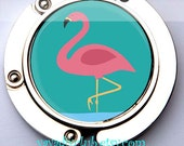 Pink Flamingo Purse Hanger Holder Bag Hook - Unique womens gift, unique gift for grandma, mom, her, party favors