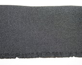 """2 yards BLACK or WHITE 3"""" wide boxer knit waistband sewing elastic with small ruffle"""