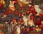 Harvest Kitties - Fabri-Quilt - .8 yard - Last Available