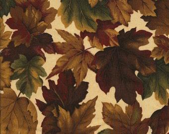 Fall Amber Leaves - Cranston Village - Fat Quarter