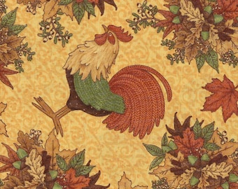 Harvest Roosters - Debbie Mumm - 1 yard - More Available - BTY