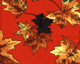 Maple Leaves - 60 Inch Wide - 1 yard - More Available - BTY