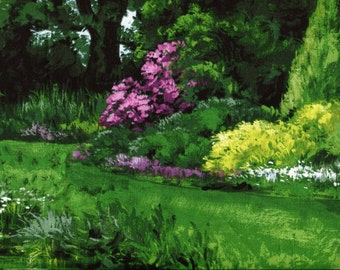 Park Landscape - Michael Miller - 1 yard - More Available - BTY