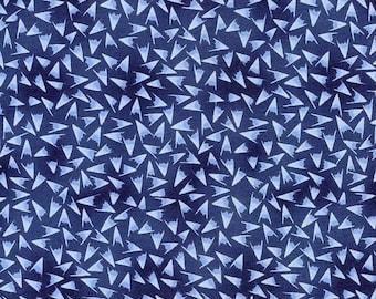 Blue Hana - P and B Textiles - 2/3 Yard