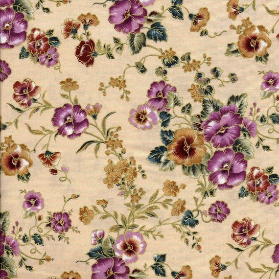 Autumn Pansy Marcus Fabric Fat Quarter