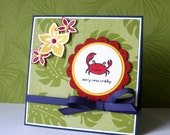 Tropical Themed Sorry I Was Crabby Card