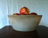 Fruit Bowl - Concrete Wedge Bowl - Minimalist
