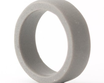 Guerrero Gray Simple Porcelain Wide band ring For Him , Men's Jewelry, Porcelain  Rings ,