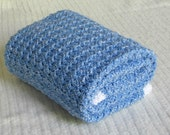 Soft and Snuggly Hand Crocheted Baby Blanket - Blueberry