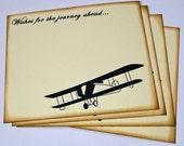 Wedding Guest Book Alternative Cards - Set of 50 - Vintage Travel Airplane Wedding Wishes