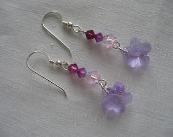 Violet Sparkles - earrings