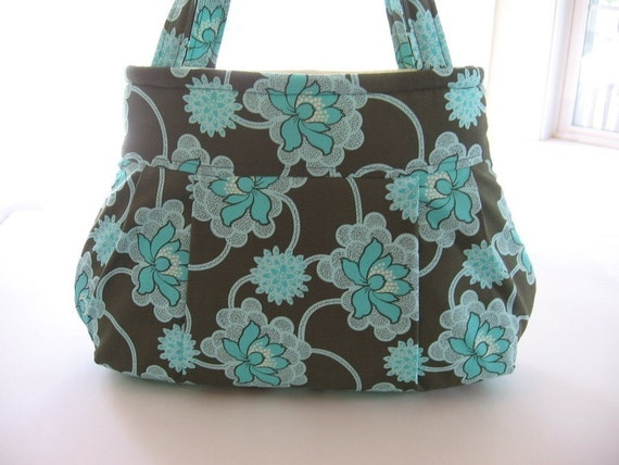Forest Clematis Pleated Bag