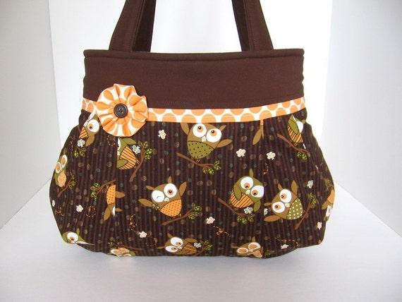 Owls Pleated Bag