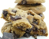 Chewy Brown Butter Chocolate Chip Cookies with Sea Salt - perfect gift for the chocoholic on your list