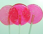 Pink Cotton Candy - Nostalgia Lollipop - girlie girl, wedding candy, shower, christening gift