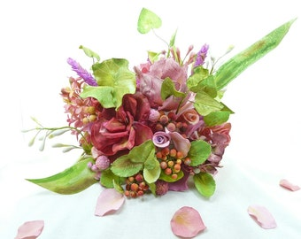Sugar flower bouquet or cake topper - Featured on Etsy Lush