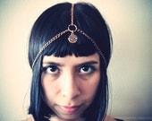 All Seeing Eye Brass Headpiece/ Headchain/ Boho Headchain/ Chain Headband/ Chain Crown/ Body Jewelry/ Third Eye Chakra/ Boho Chic