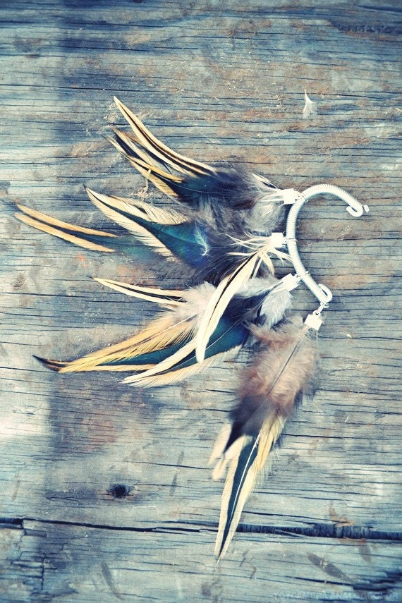 Wolf Feather Ear Cuff/Wrap