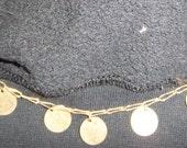 Vintage Gold Necklace with Polished Disks