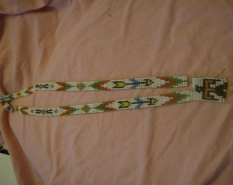 Vintage Mohawk Trail Souvenir Beaded Necklace