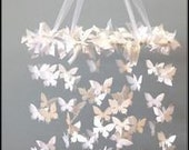 Elegant Butterfly Mobile / Chandelier for Baby, Wedding and Decor