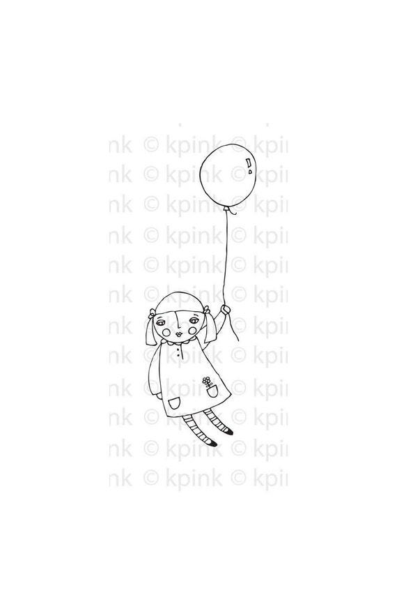 My Beautiful Balloon original illustration downloadable image