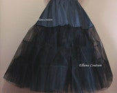 Black Tea Length Crinoline. Medium Fullness. Designed specifically for Tea Length Dresses. Available in Other Colors.