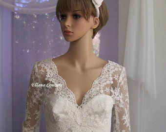 Ready to Ship. Clarice - STUNNING Vintage Inspired Bridal Gown.