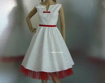 SAMPLE SALE. Vintage Inspired Cotton Wedding Dress.