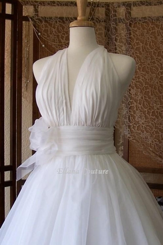Retro Inspired Tea Length Wedding Dress Vintage By EllanaCouture