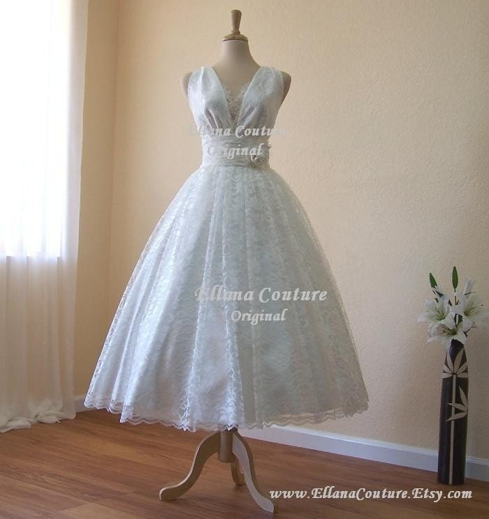 Tea Length Wedding Dresses Vintage