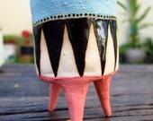 Colorful miniture ceramic flower pot