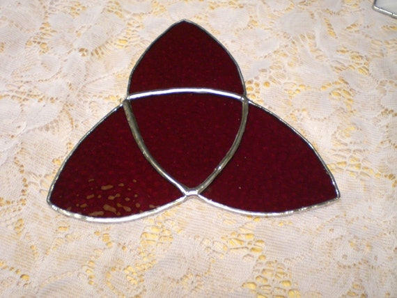 Celtic or Trinity stained glass knot suncatcher