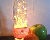 RESERVED for Poverella- Upcycled Glass Lamp- Hungarian Water Bottle