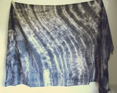 smoky quartz black and charcoal hand dyed organic cotton tie dye extra large scarf