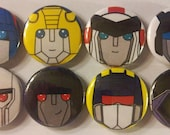 MC Transformers Gen 1 Pin Back Button Set (8 Pack)