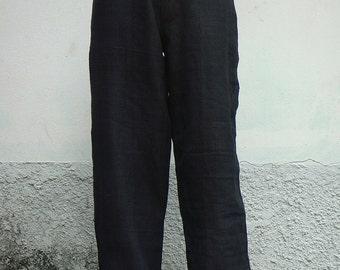 100 percent hemp pants in black for Men