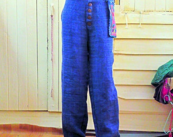 light blue 100 percent hemp pants