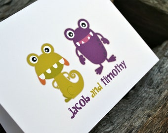 Personalized Stationery / Personalized Stationary / Childrens Stationery / Thank You Note Cards / Kids Stationery / Monster Note Cards