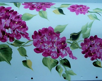 Hand Painted MAILBOX Pink Hydrangeas, UV Resistant