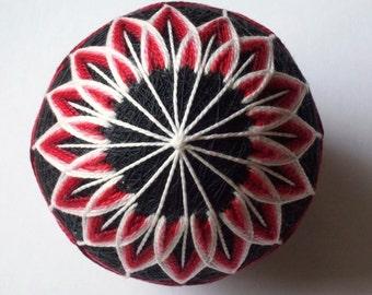 Red and Black Beauty Temari