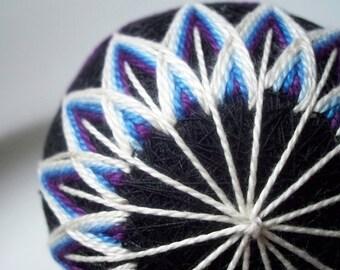 Blue and Black Beauty Temari