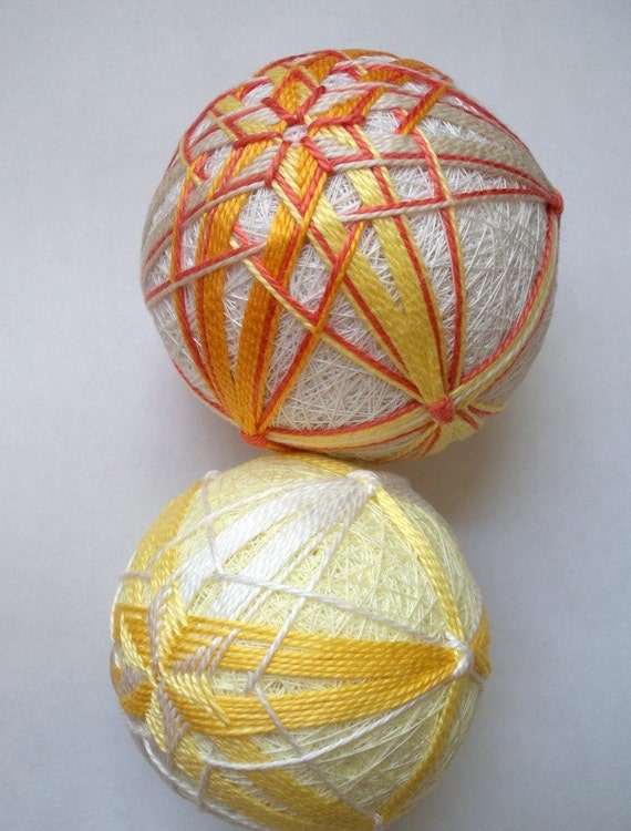 Summer Citrus Duo-  Temari Balls