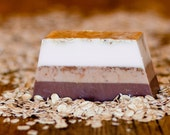 Oatmeal and Almond Milk, Hand-Crafted Soap Brown Exfoliant Wheat Germ Organic Cookies Fall Gift Unisex