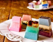Sample Hand-Crafted Soap Four Pack Hostess Gift Wedding Shower Glycerin