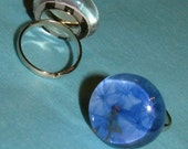 Blue Plumbago Bobble Ring
