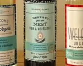 Housewarming and Welcome to the Neighborhood Custom Wine Labels - Mix and Match any 3 label designs