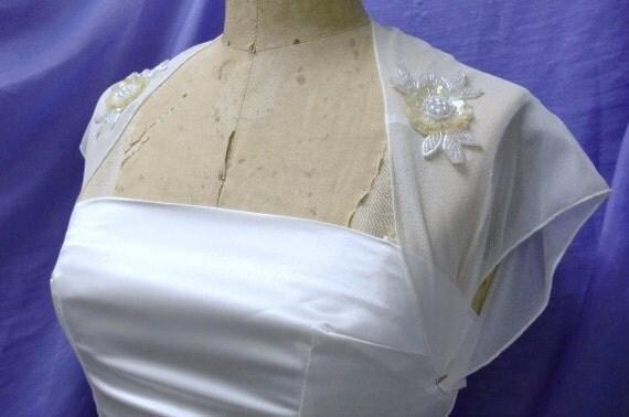 Bridal Shrug Bolero Vintage Look   MADE TO ORDER