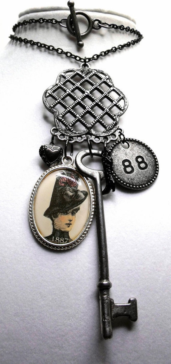 13 Miller's Court Necklace--Mary Jane Kelly, Jack the Ripper, Whitechapel, Victorian London