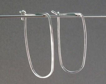 STERLING SILVER HOOP earrings small hook sleeper ear wire minimal modern simple contemporary interchangeable jewellery nickel free No.00E167